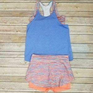 Old Navy Girls Athletic Outfit Size L Tank & Skort